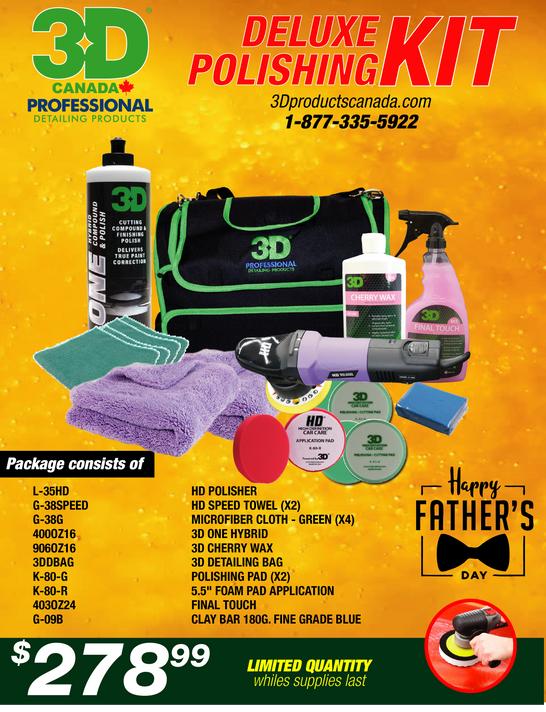 Fathers Day - 3D Deluxe Polishing Kit