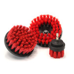 Maxshine Red M8 Medium-Duty Upholstery Carpet Brush with Drill Attachment—2″