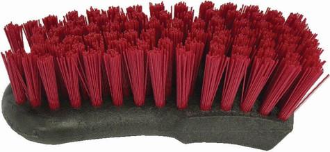 Red nylon carpet brush