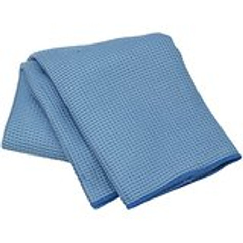 "Blue Waffle Weave Microfibre Towel - LARGE 39""X20"""