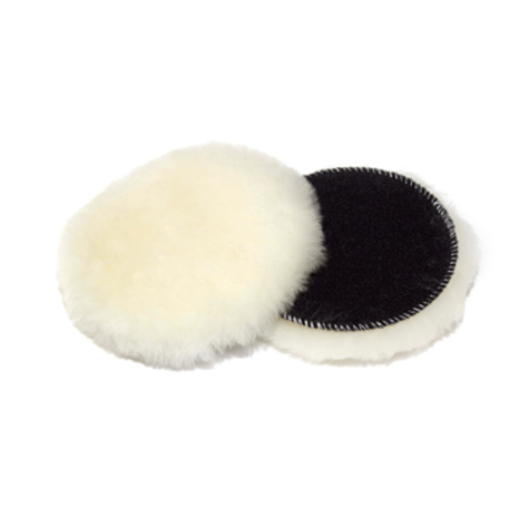 """3"""" 3D WHITE WOOL HEAVY CUT LAMBSWOOL PAD - 2 PACK"""