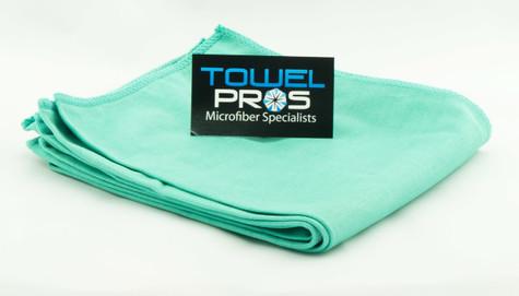 TOWEL PROS GREEN MICROFIBER GLASS TOWEL
