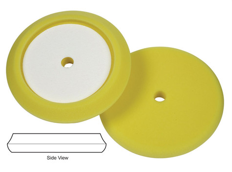 """LAKE COUNTRY 8.5"""" YELLOW CUTTING RECESSED BETTER EDGE FOAM PAD"""