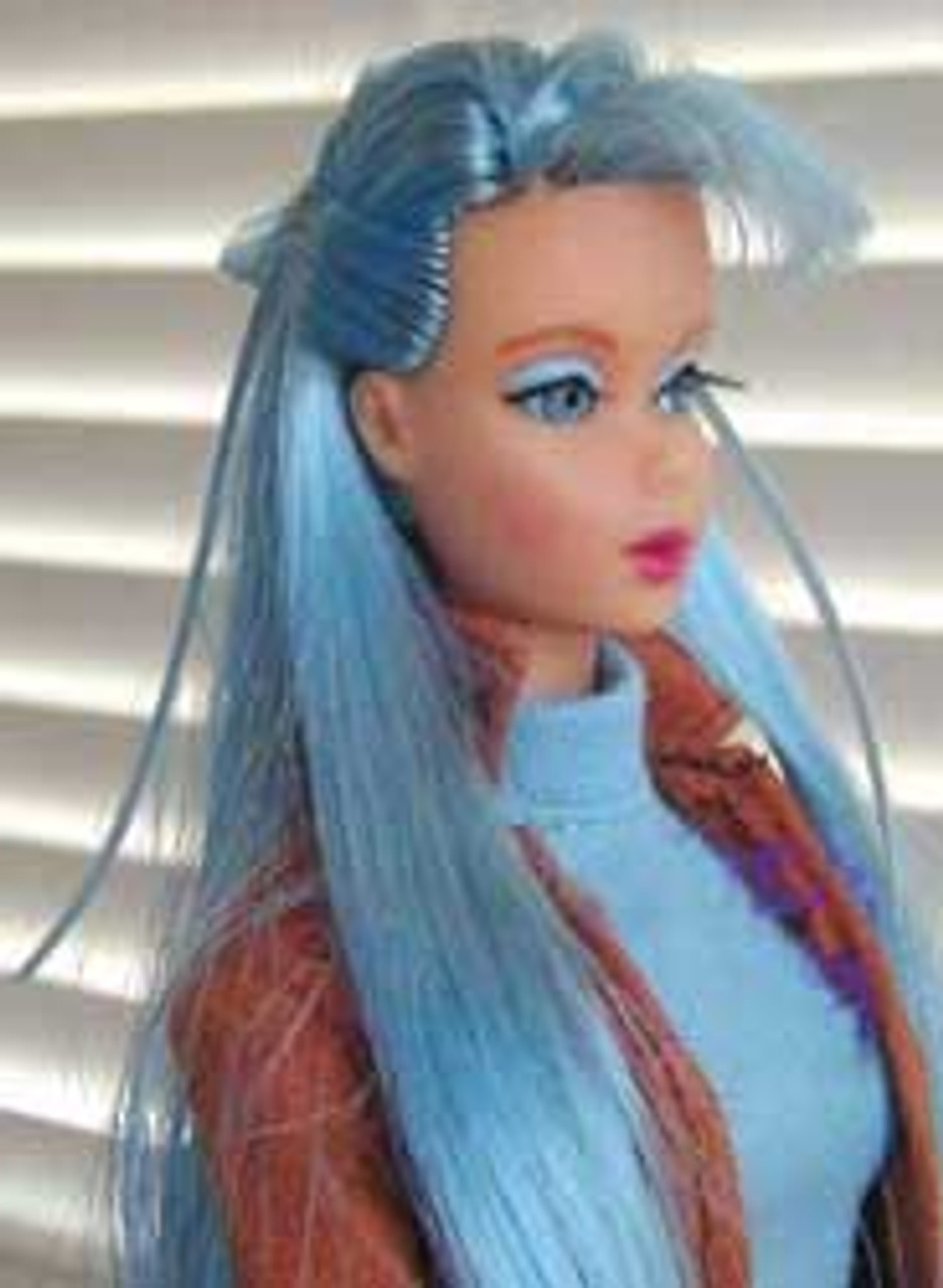 Azure Blue 19 KatSilk ® Saran Doll Hair