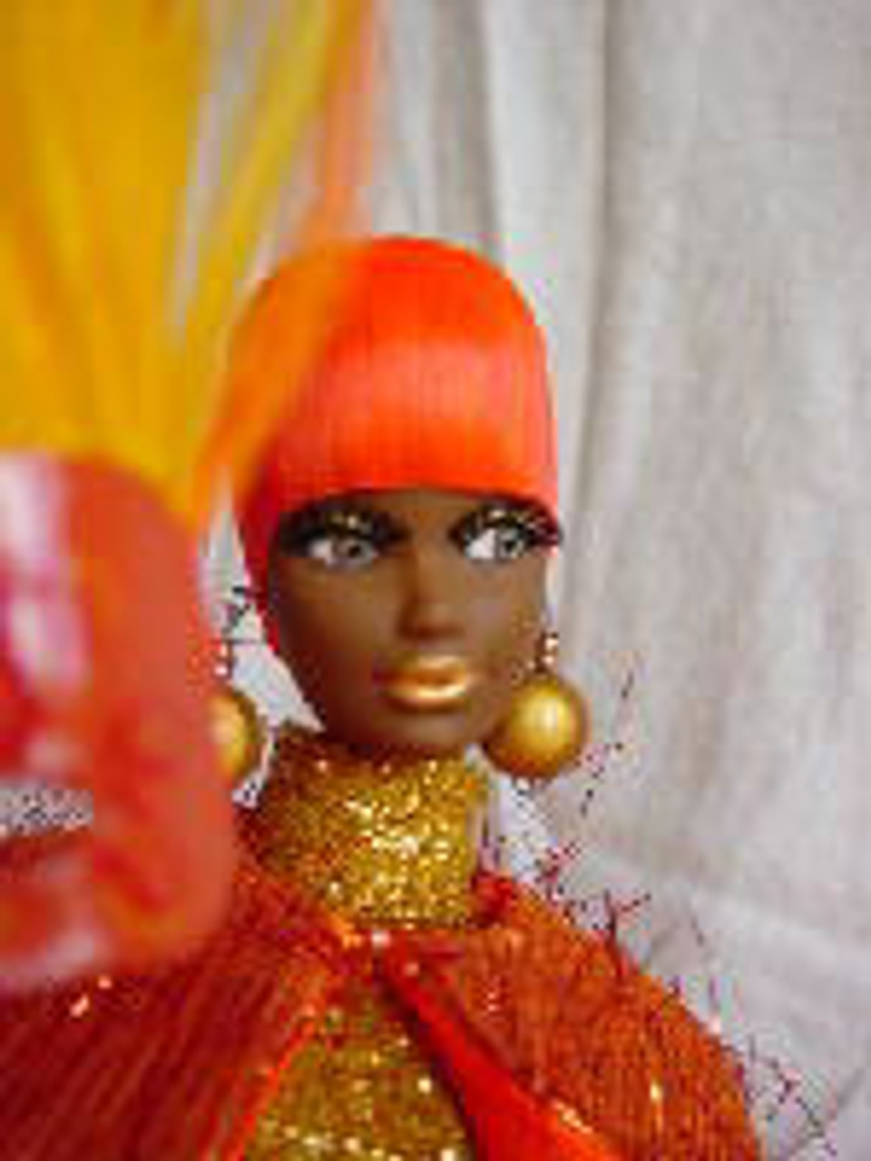 Orange Blossom 30 KatSilk Saran Doll Hair