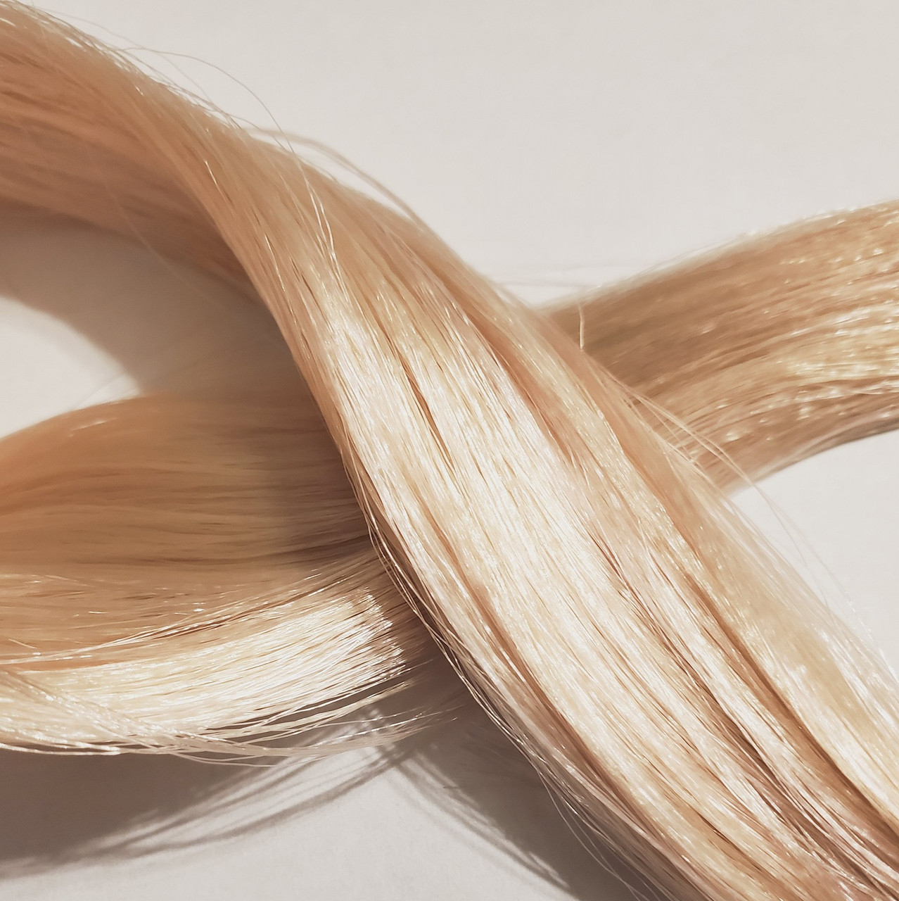 Frosted Strawberry Blond 39 KatSilk Saran Doll Hair