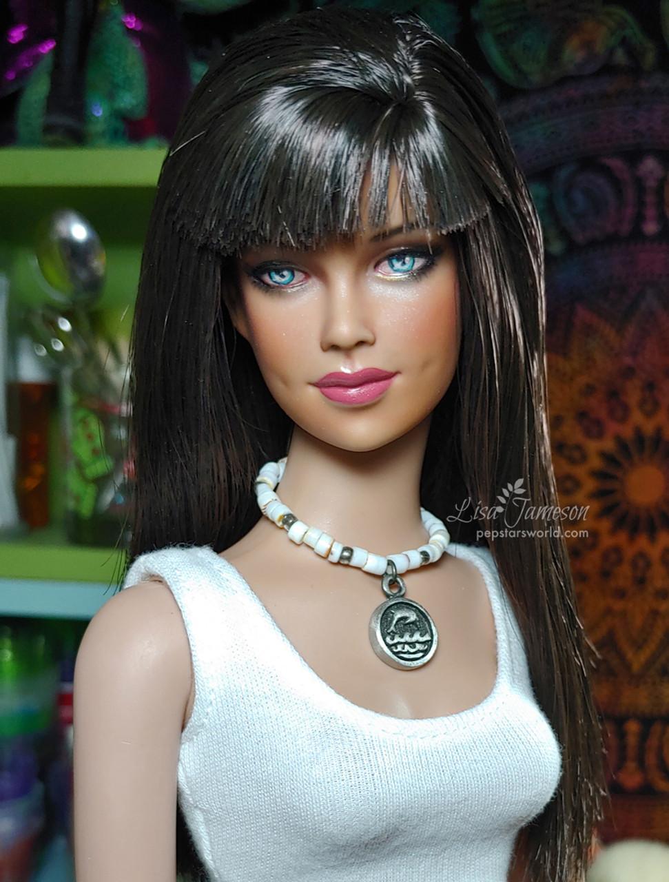 Black Orchid 43 KatSilk ® Saran Doll Hair