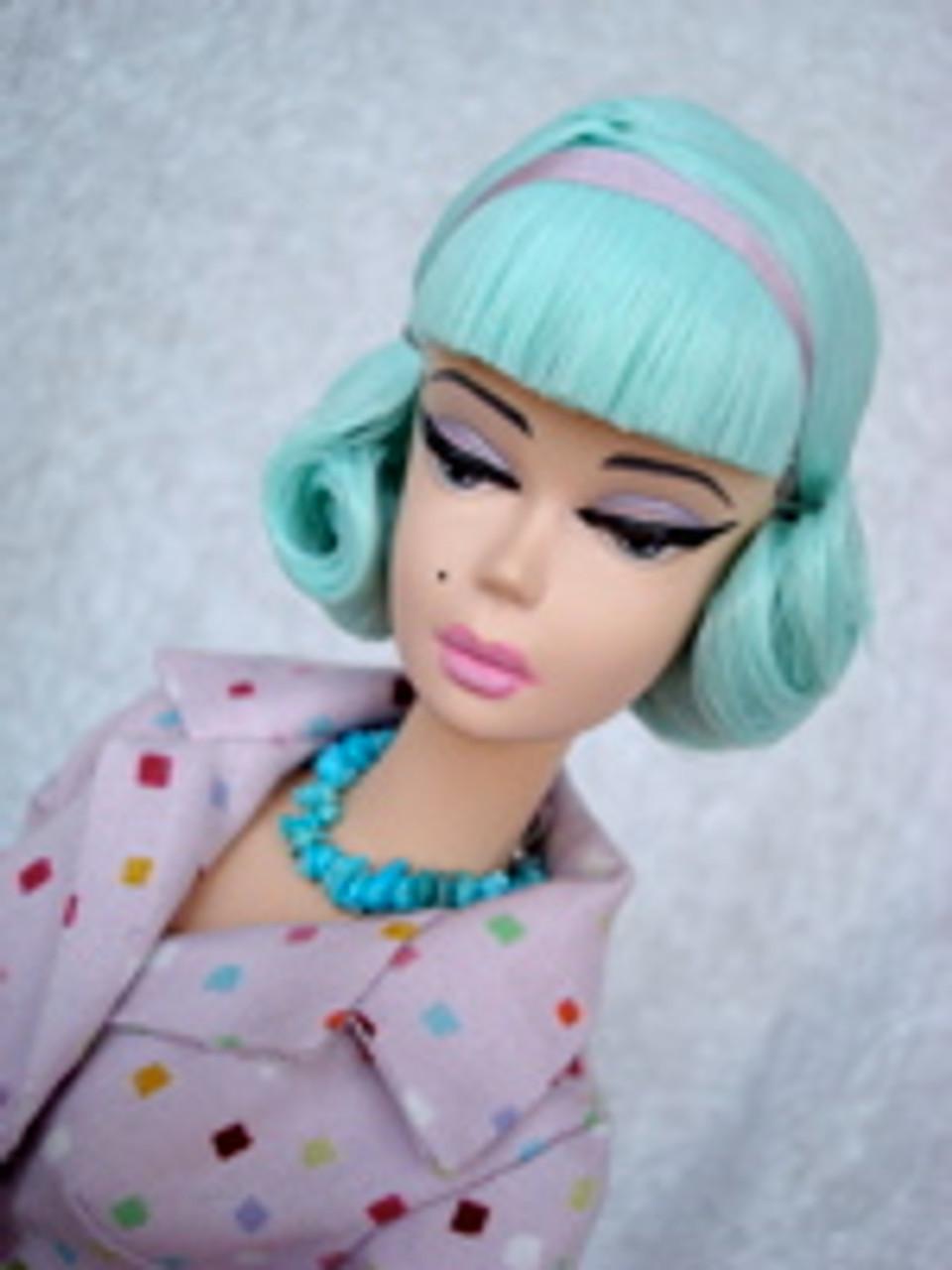 Turquoise 51 KatSilk Saran Doll Hair