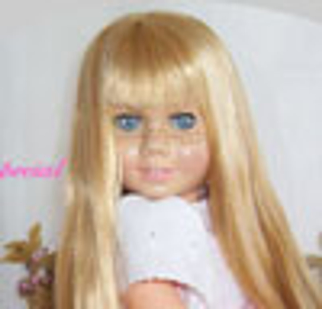 Light Blond Chatty 64 KatSilk Saran Doll Hair