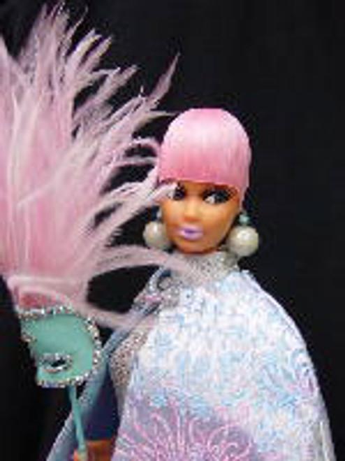 Tickled Pink 28 KatSilk Saran Doll Hair