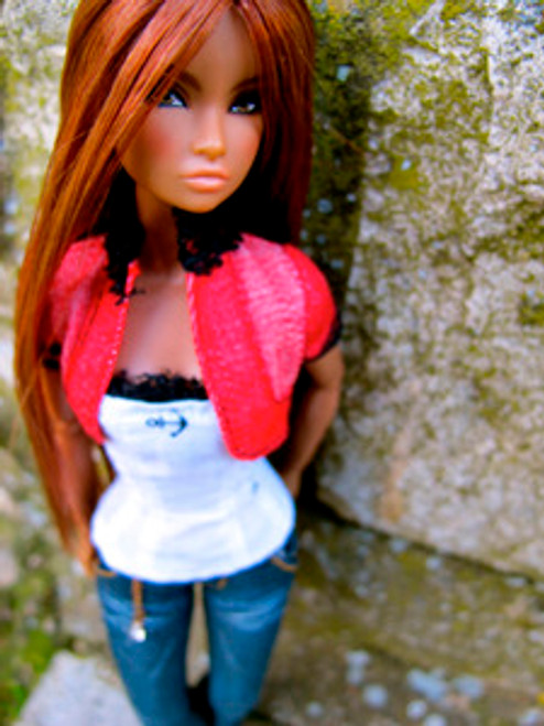 Auburn Chatty 63 KatSilk ® Saran Doll Hair