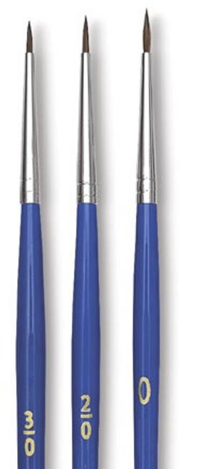 Spotter Brush Three Piece Set 3/0, 2/0, 0