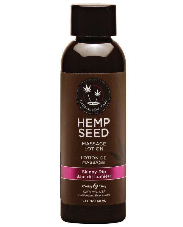 Earthly Body Hemp Seed Massage Lotion - Skinny Dip - 2 Oz