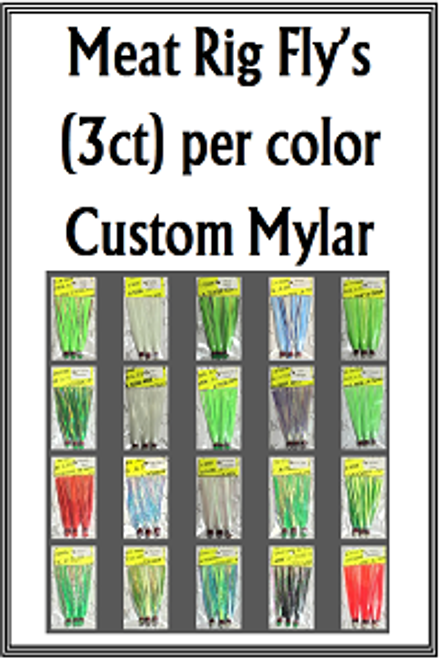 Meat Rig Fly's (3ct) per color