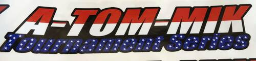 "A-TOM-MIK ""Diecut"" Decal's American Flag Atommik"
