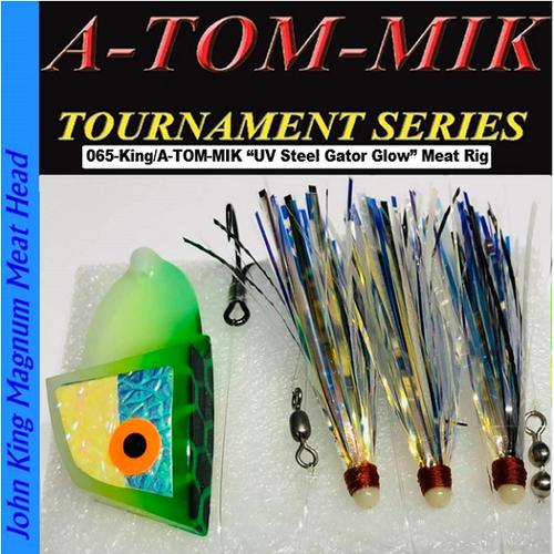 "065-King/A-TOM-MIK ""Steel Gator Glow UV"" Meat Rig"