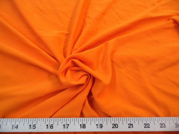 Discount Fabric Dryline lycra spandex wicking performance Stretch Orange DT13