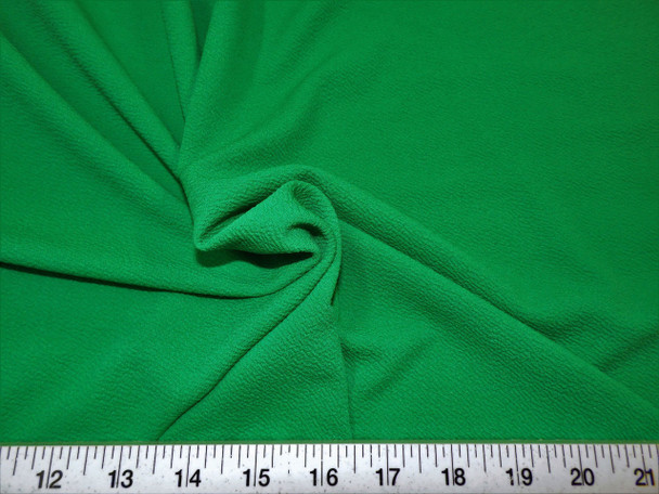 Discount Fabric Liverpool Textured 4 way Stretch Scuba Kelly Green LP03
