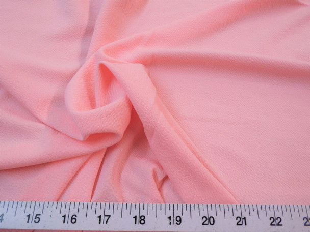Discount Fabric Liverpool Textured 4 way Stretch Scuba Blush Pink LP10