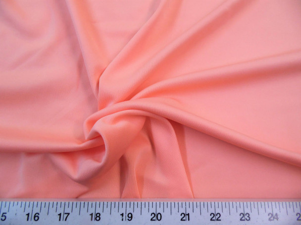 Discount Fabric Techno Scuba Polyester Spandex 4 way Stretch Peach TS01