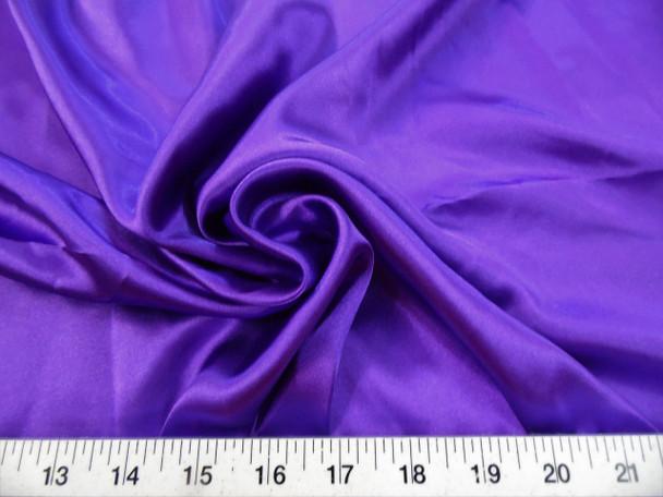 Discount Fabric Charmeuse Silky Bridal Satin Apparel Purple CS08
