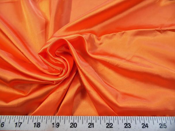 Discount Fabric Charmeuse Silky Bridal Satin Apparel Orange CS16