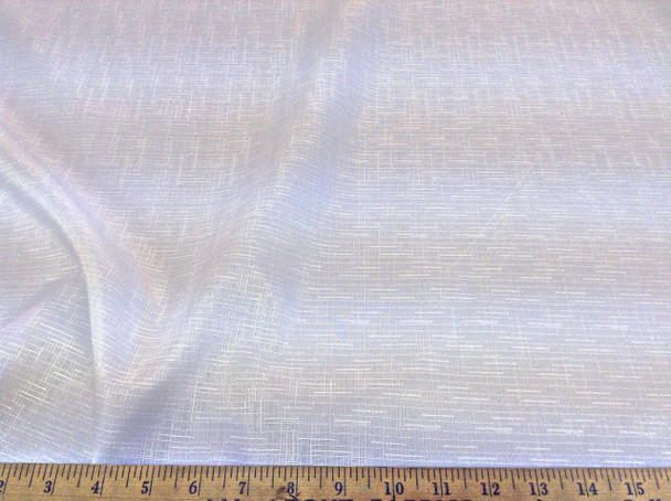 Discount Fabric Upholstery Drapery Linen Look Wild Rice Pattern Solid White DR24