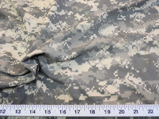 Fabric Polyester Lycra Spandex 4 way stretch Digital Desert Camouflage LY919