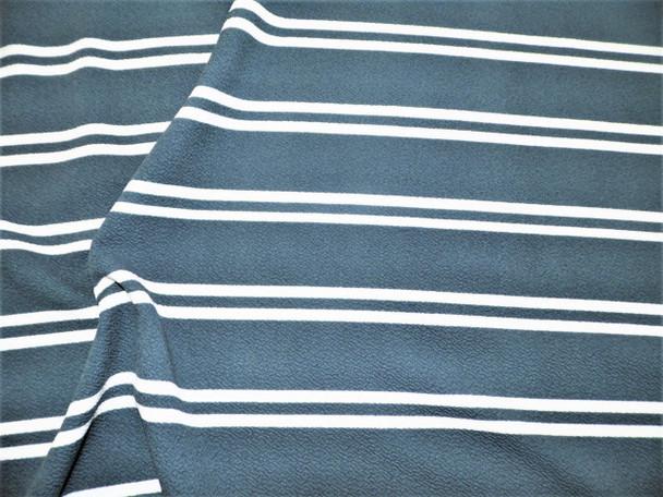 Fabric Printed Liverpool Textured 4 way Stretch Scuba Slate Gray Stripe H202