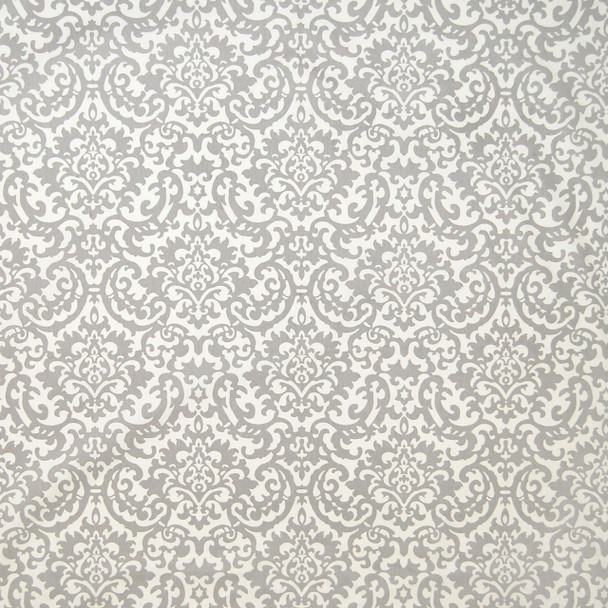 Fabric Upholstery Drapery Waverly Duncan Sterling Silver Gray Damask Floral DD15