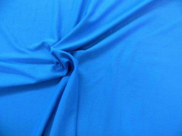 Discount Fabric Polyester Lycra Spandex 4 way stretch Peacock Blue LY820
