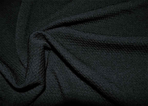 Bullet Textured Liverpool Fabric 4 way Stretch Black S11