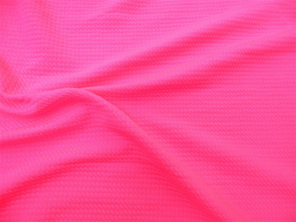 Bullet Textured Liverpool Fabric 4 way Stretch Neon Pink S23