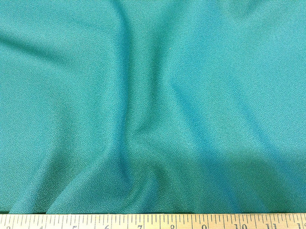 Discount Fabric Momie Weave Crepe Drapery Turquoise DR11