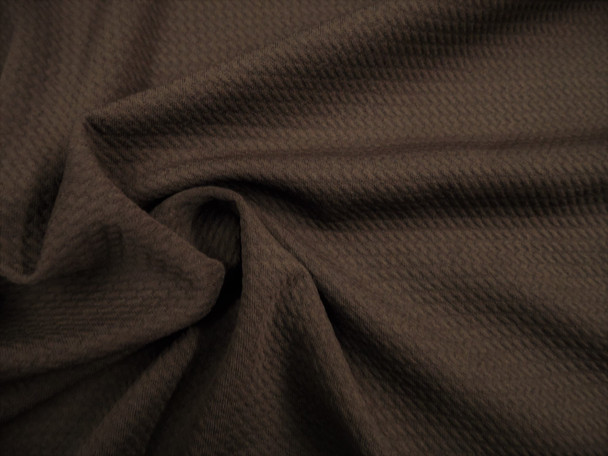 Bullet Textured Liverpool Fabric 4 way Stretch Espresso Brown T25