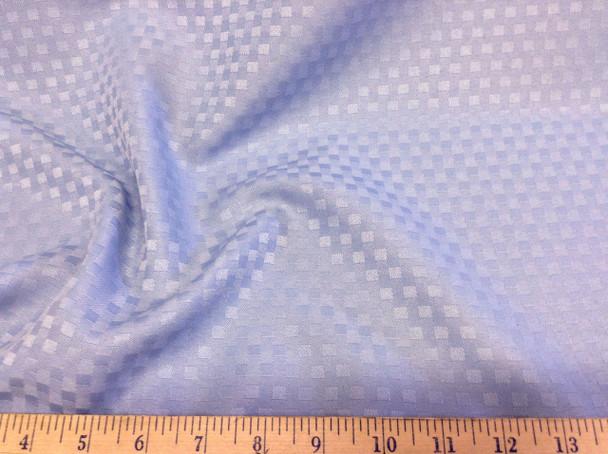 Discount Fabric Drapery Jacquard Check Light Blue DR07