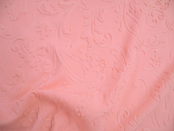 Sculpture Liverpool Fabric 4 way Stretch Scuba Blush Pink Scrolling Floral GG42