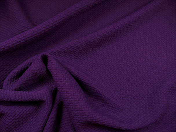 Bullet Textured Liverpool Fabric 4 way Stretch Eggplant Purple X62