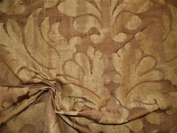 Robert Allen Beacon Hill Fabric Laconia Teak Linen Drapery Upholstery JJ29