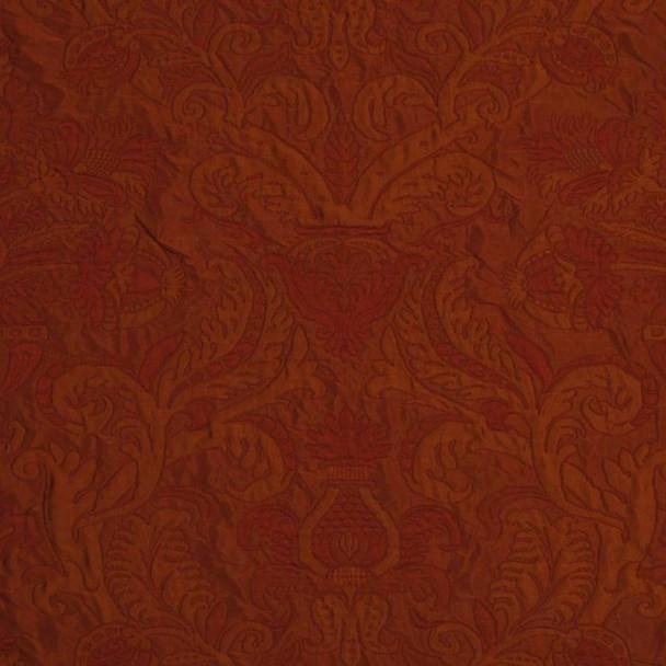 Robert Allen Beacon Hill Fabric Domingo Clay Silk Linen Drapery *J38