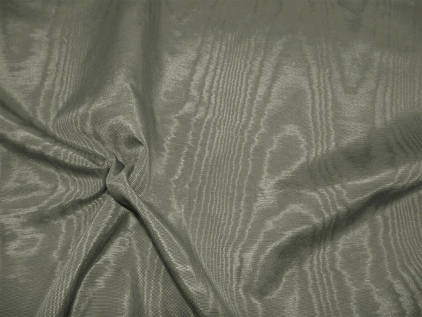 Discount Fabric Moire` Bengaline Faille Graphite Gray SS45