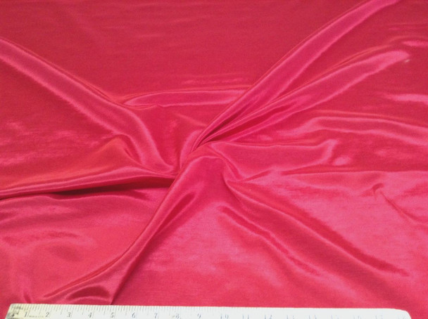 Discount Fabric BENGALINE Faille Solid  Red  Ben102