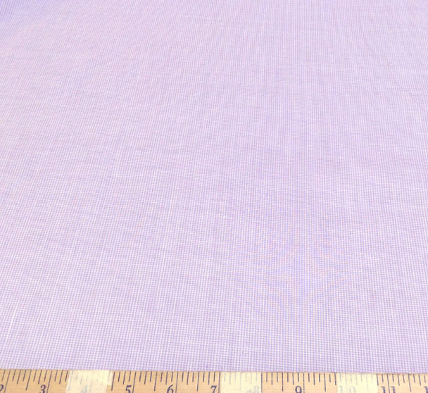 Discount Fabric Top Weight Cotton Shirting Apparel Micro Gingham Purple CT018