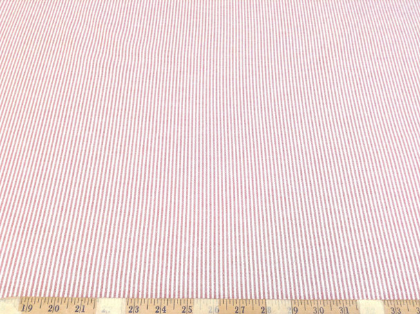 Discount Fabric Cotton Chambray Apparel Red and White Stripe CH100
