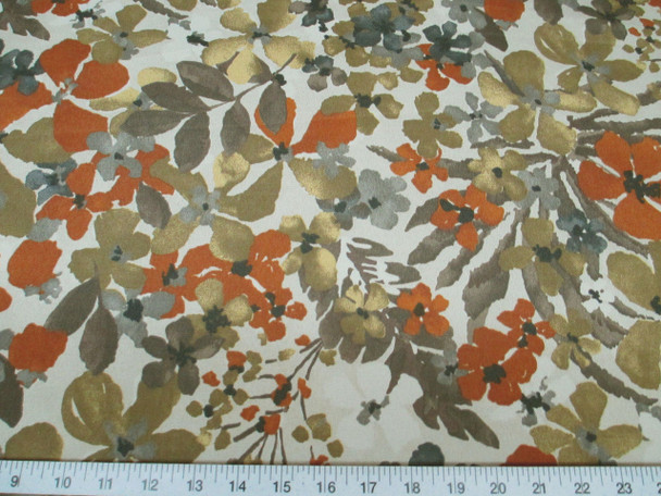 Discount Fabric Robert Allen Baja Sonata Greystone Floral Indoor Outdoor RA06