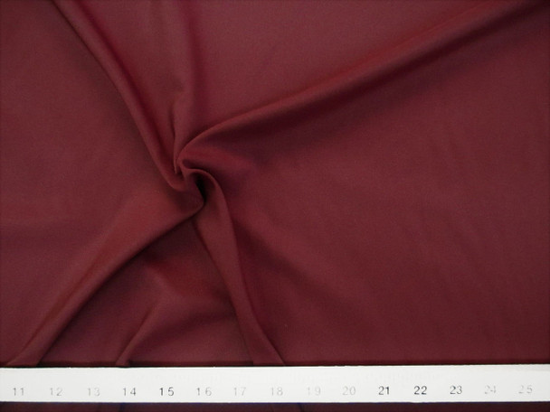 Discount Fabric Challis Apparel Top Weight Solid Burgundy Soft and Flowing CH19