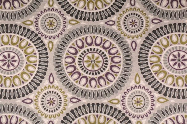Discount Fabric Richloom Upholstery Drapery Linen Embark Flagstone Medallion OO21