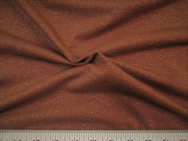 Discount Fabric Glamour Spandex 4 way stretch Brown Metallic Copper LY716