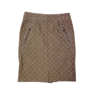 Louis Vuitton Beige Monogram Skirt