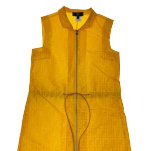 Fendi Yellow Zucca Monogram Dress